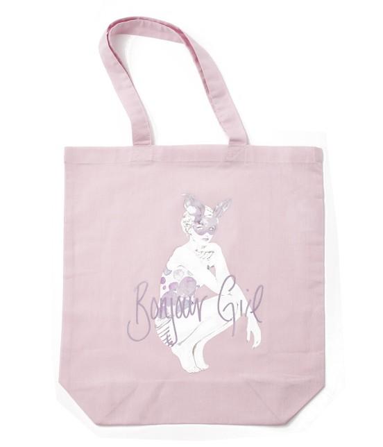 ボンジュールガール | 【Bonjour Girl】トートバッグ | ピンク