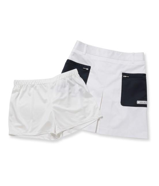 ジュン アンド ロペ | 【透け防止】【吸水速乾】【UVカット】配色ポケットボックスプリーツスカート - 7
