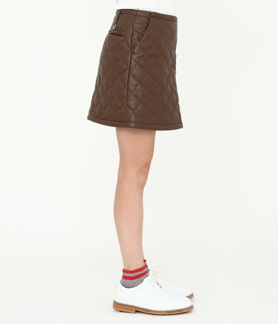 ジュン アンド ロペ   フェアリーレザーチョコレートキルトスカート - 2