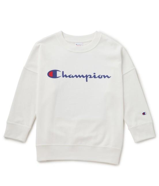 ビス | 【mina4月号掲載】【Champion×ViS】クルーネックロゴスウェット | ホワイト