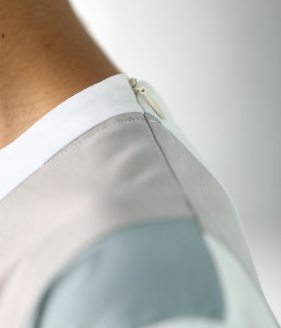 ジュンレッド | 【TIME SALE】パネルストライプ半袖Tシャツ - 6