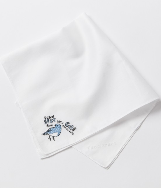 ザ・サリィ | 【naohiga×THE SURREY】ラッキーチャーム刺繍ハンカチ(鳥)