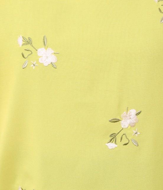 ビス | 刺繍チューリップスリーブブラウス - 7