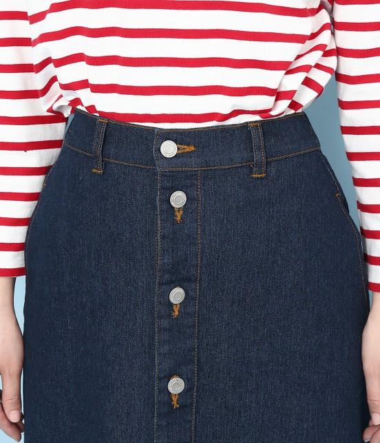 ロペピクニック | 【10%OFF Campaign】【予約】【WEB限定】フロントボタンデニムスカート - 4