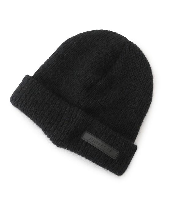 ジュン アンド ロペ | ワンポイントワッペン付きニット帽 - 1