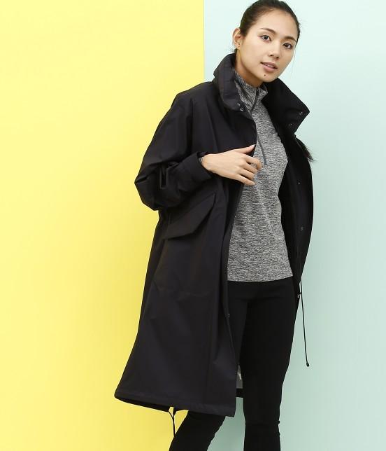 ナージー | スリーレイヤーボア付きコート | ブラック