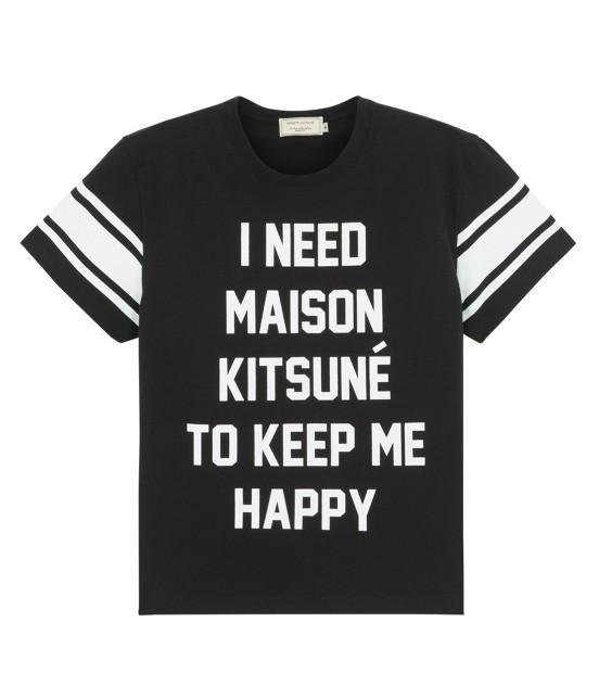 MAISON KITSUNÉ WOMEN   TEE SHIRT I NEED   ブラック