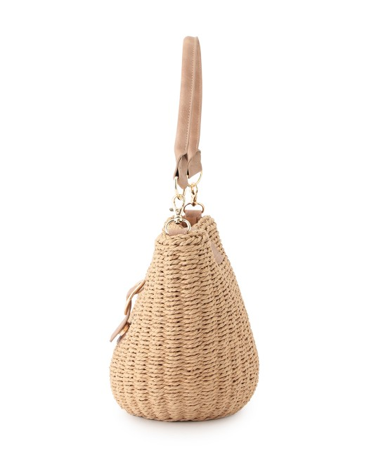 ロペピクニックパサージュ   【先行予約】【2WAY】丸バックルバケツバスケットバッグ - 1