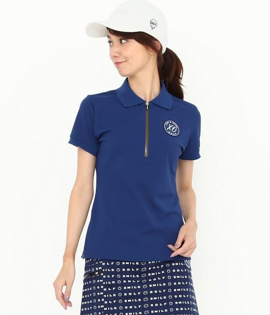 ジュン アンド ロペ | 【UVカット】【吸水速乾】【接触冷感】MILLION ICE Zipポロシャツ | ブルー
