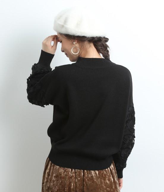 ロペピクニック | ★12/1ヒルナンデス!放映★袖レース刺繍ハイネックプルオーバー - 2