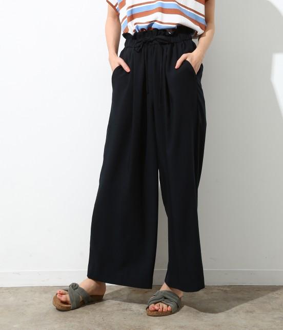 ロペピクニック | 【Japan Fabric】麻調ワイドパンツ | ネイビー