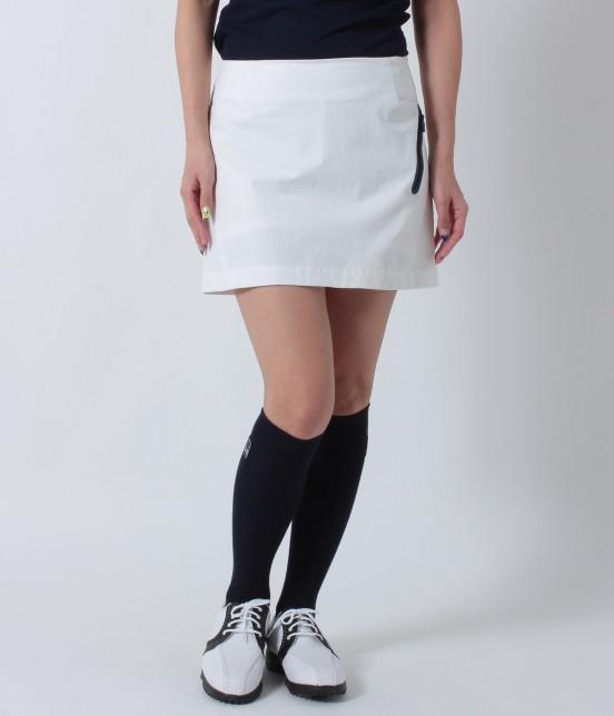 ジュン アンド ロペ | ナイロンストレッチ切替スカート | ホワイト