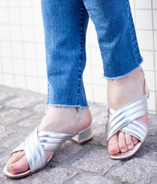 アダム エ ロペ ファム   【FABIO RUSCONI】Metalic Sandals - 2