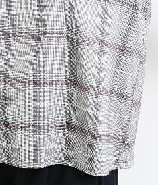 ロペピクニック | 【予約】【WEB限定】グレンチェック袖口フリルブラウス - 6