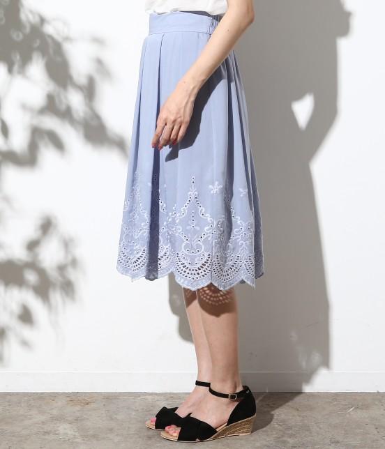ロペピクニック   スカラップ刺繍スカート - 1