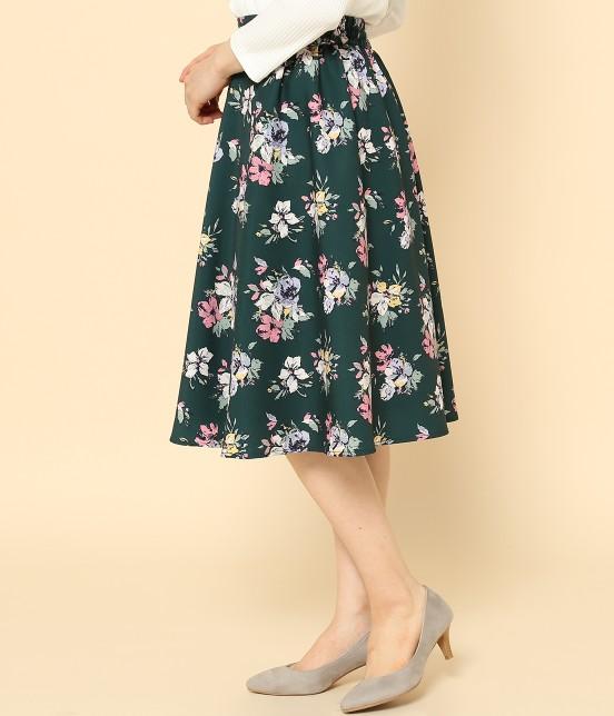 ロペピクニック | 花柄ギャザースカート - 1