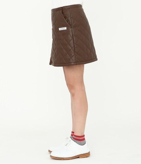 ジュン アンド ロペ   フェアリーレザーチョコレートキルトスカート - 1