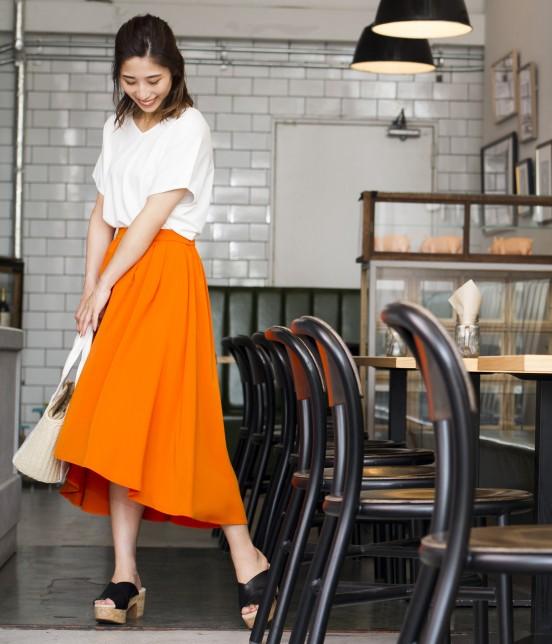 ビス   【24時間限定!ViS TIME SALE!】ラウンドヘムギャザースカート - 12
