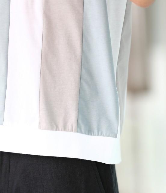 ジュンレッド | 【TIME SALE】パネルストライプ半袖Tシャツ - 5
