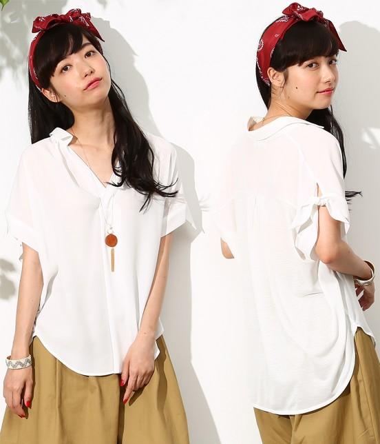 ロペピクニック | 【新色追加】ヒラリボンシャツ | ホワイト