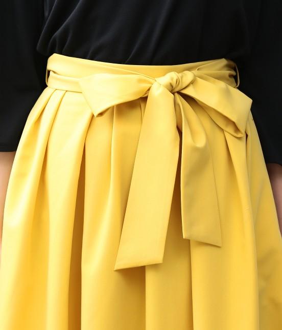 ビス | ランダムタックミディ丈スカート - 3