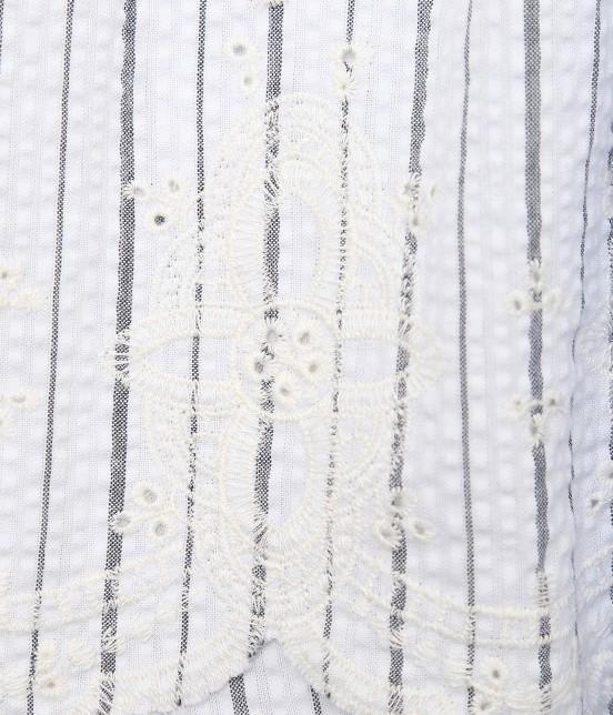 ロペピクニック   【50TH SPECIAL COLLECTION】無地/ストライプ裾刺繍スカート - 7