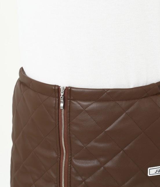 ジュン アンド ロペ   フェアリーレザーチョコレートキルトスカート - 4