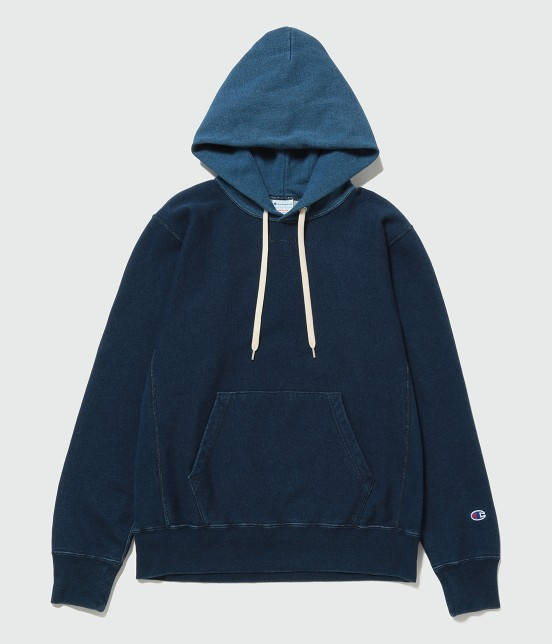 アダム エ ロペ オム | 【Champion for ADAM ET ROPE' 】Exclusive Indigo Hoodie | ネイビー