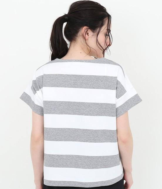 サロン アダム エ ロペ ウィメン | ポンチボーダーTシャツ - 4