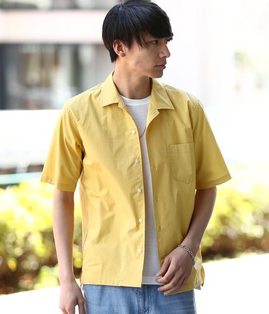 ジュンレッド | ドライコットンオープンカラーシャツ | カラシ