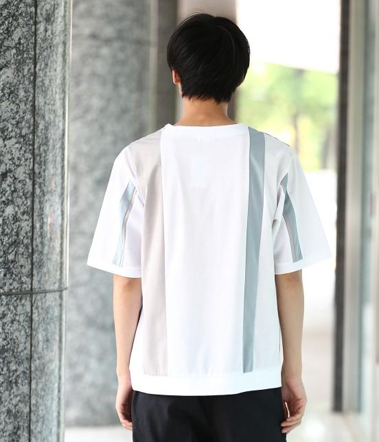 ジュンレッド | 【TIME SALE】パネルストライプ半袖Tシャツ - 2