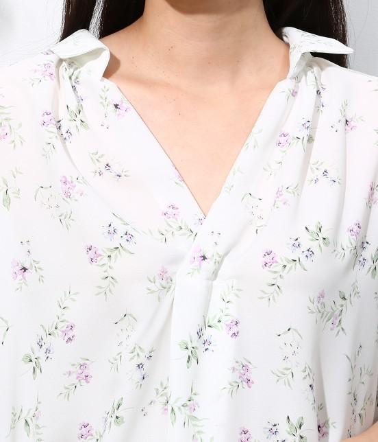 ロペピクニック | 花柄ヒラリボンシャツ - 4