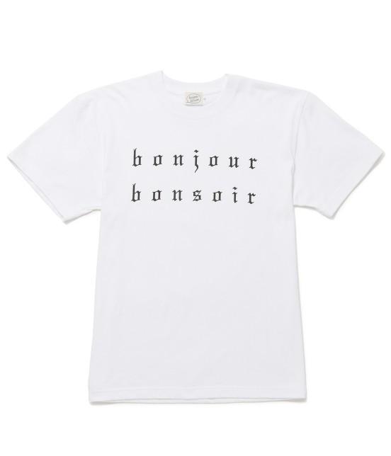 ボンジュールボンソワール | 【bonjour bonsoir】BONJOUR BONSOIR TEE | ホワイト系