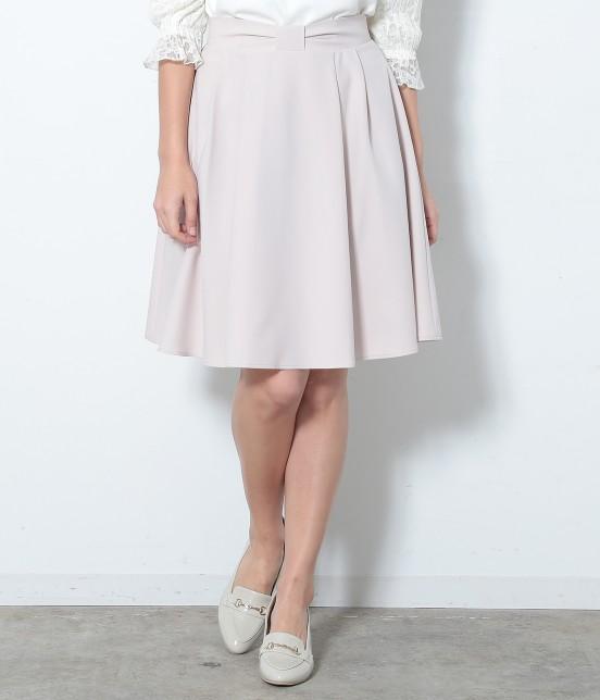 ロペピクニック | ウエストリボンタックフレアースカート | ピンク
