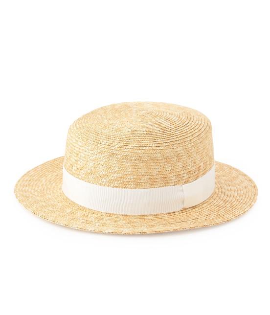 サロン アダム エ ロペ ウィメン | 【田中帽子×SALON】カンカン帽(細麦) | ホワイト