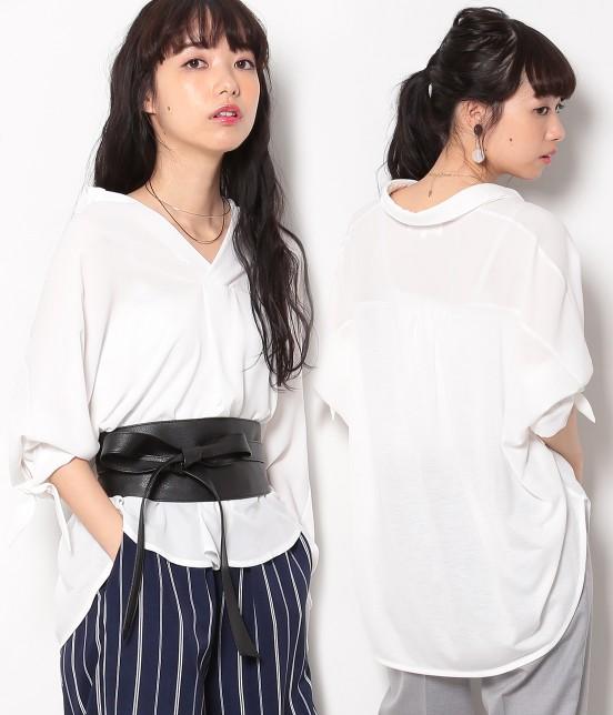 ロペピクニック | 【HIRARI COLLECTION】ヒラリボンシャツ | ホワイト