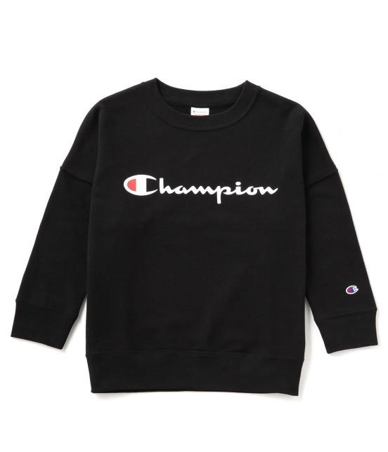 ビス | 【mina4月号掲載】【Champion×ViS】クルーネックロゴスウェット | ブラック