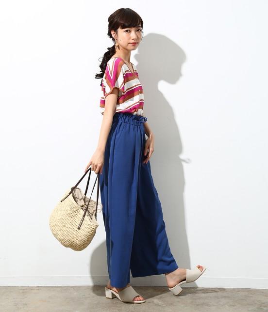 ロペピクニック | 【Japan Fabric】麻調ワイドパンツ - 7