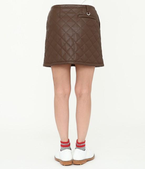 ジュン アンド ロペ   フェアリーレザーチョコレートキルトスカート - 3