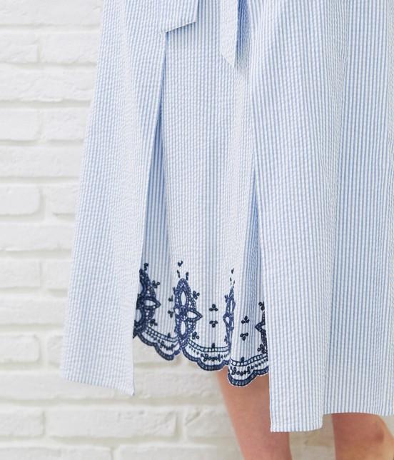 ロペピクニック   【50TH SPECIAL COLLECTION】無地/ストライプ裾刺繍スカート - 6
