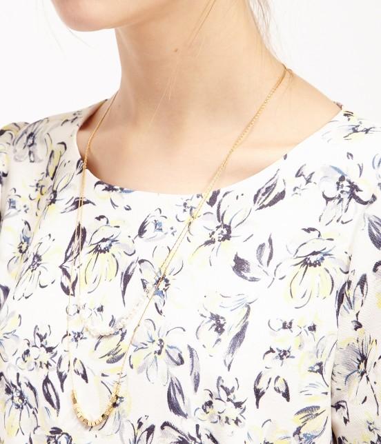 ロペピクニック | 【WEB限定40サイズ】花柄半袖タックコクーンワンピース - 3