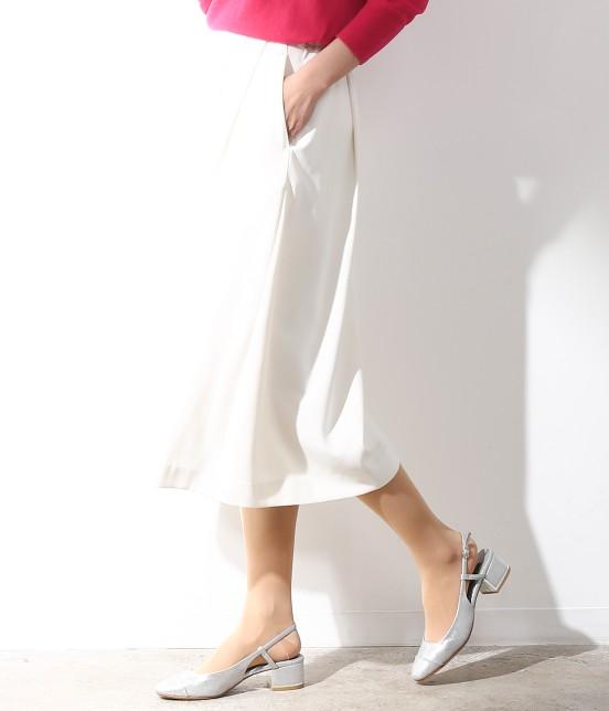 ロペ   【ロペ シスターズ コレクション】ジョーゼットスカーチョ   ホワイト