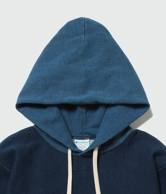 アダム エ ロペ オム | 【Champion for ADAM ET ROPE' 】Exclusive Indigo Hoodie - 3