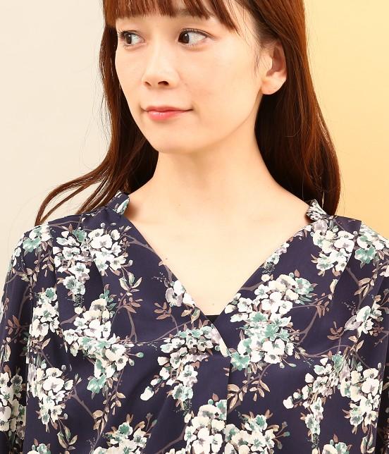 ビス | 【sweet10月号掲載】中花プリント長袖スキッパーブラウス - 3