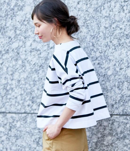 アダム エ ロペ ファム | 【Traditional Weatherwear】 ビッグマリンボートネックシャツ | ホワイト系