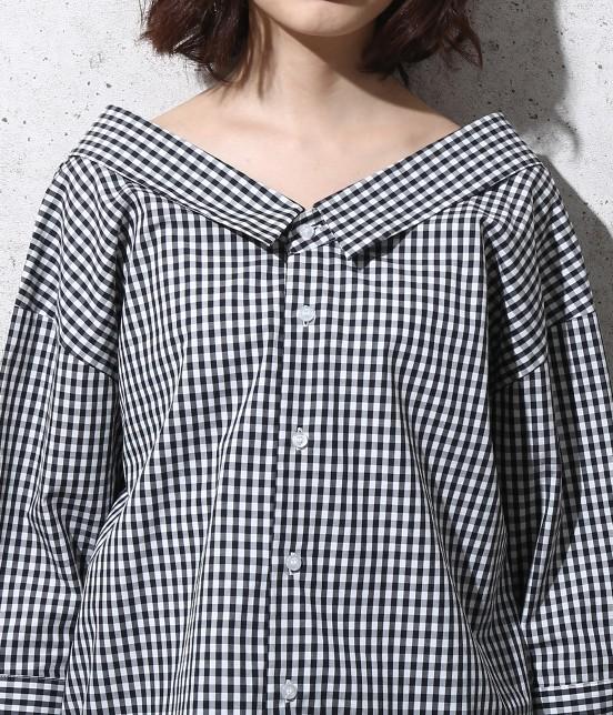 ロペピクニック | 【2WAY】先染め七分袖シャツ - 5