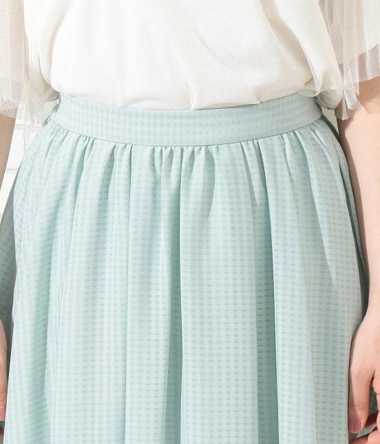 ロペピクニック   シアーチェックギャザースカート - 3