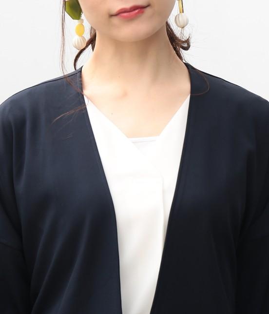 ビス | タックボリューム袖コート - 3