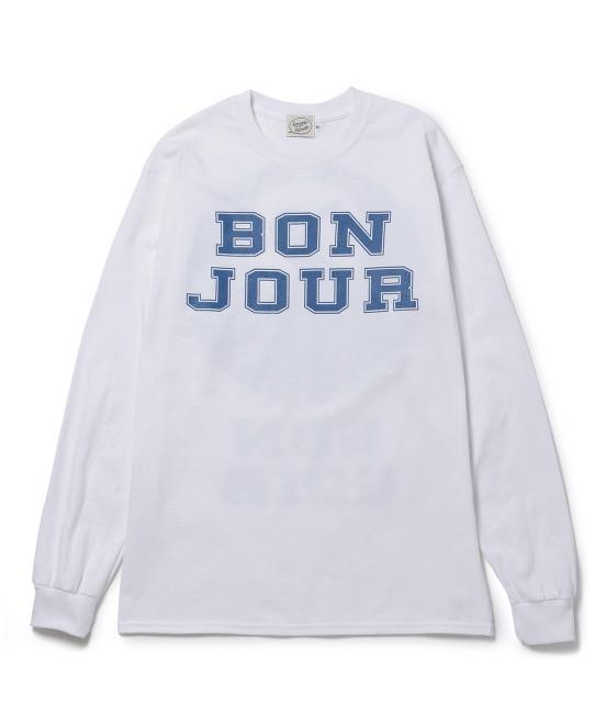 ボンジュールボンソワール | 【bonjour bonsoir】LNG SLV TEE TURU | ホワイト