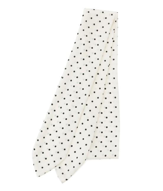 ビス | ドットガラナロースカーフ | ホワイト